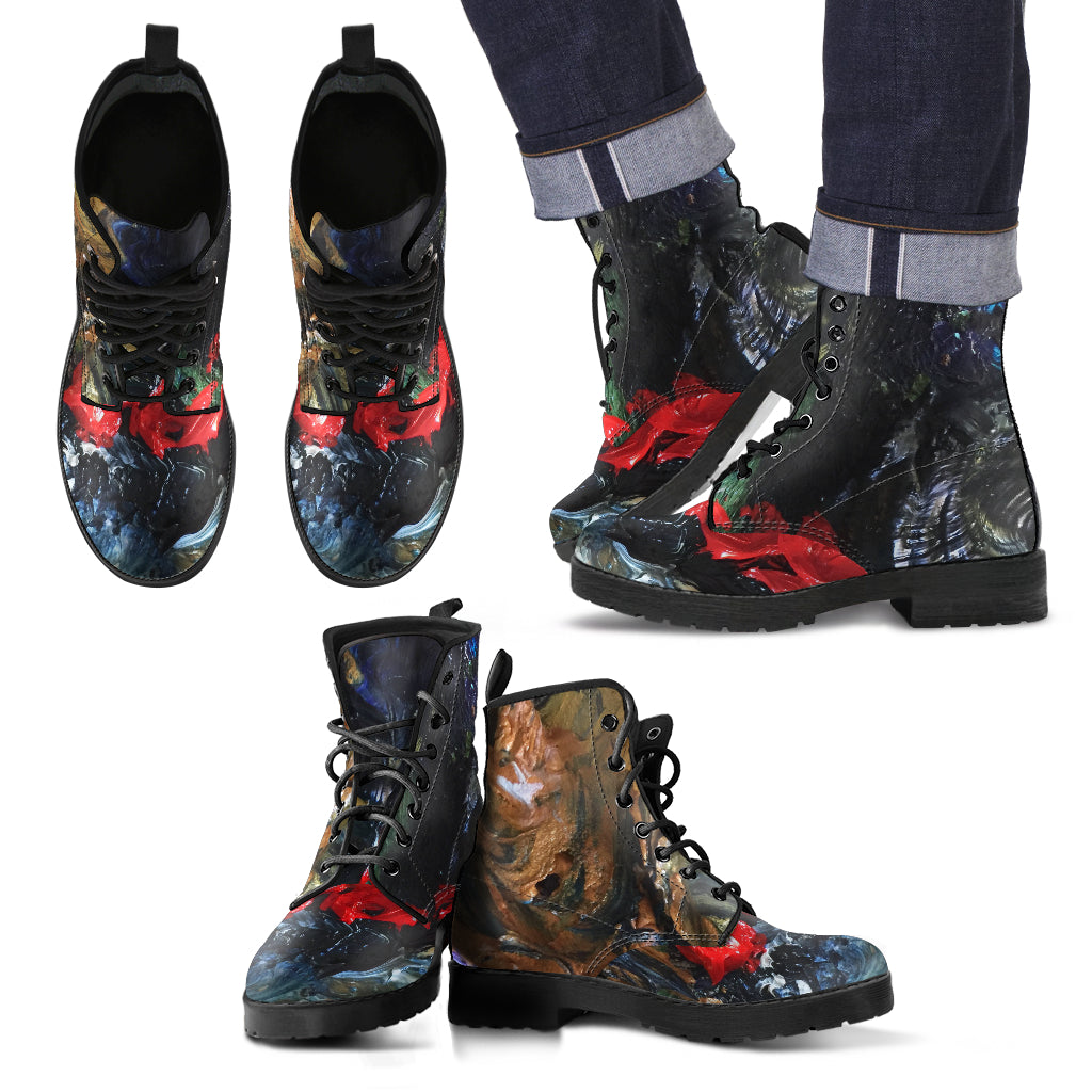 Paint It Red Men's Leather Boots