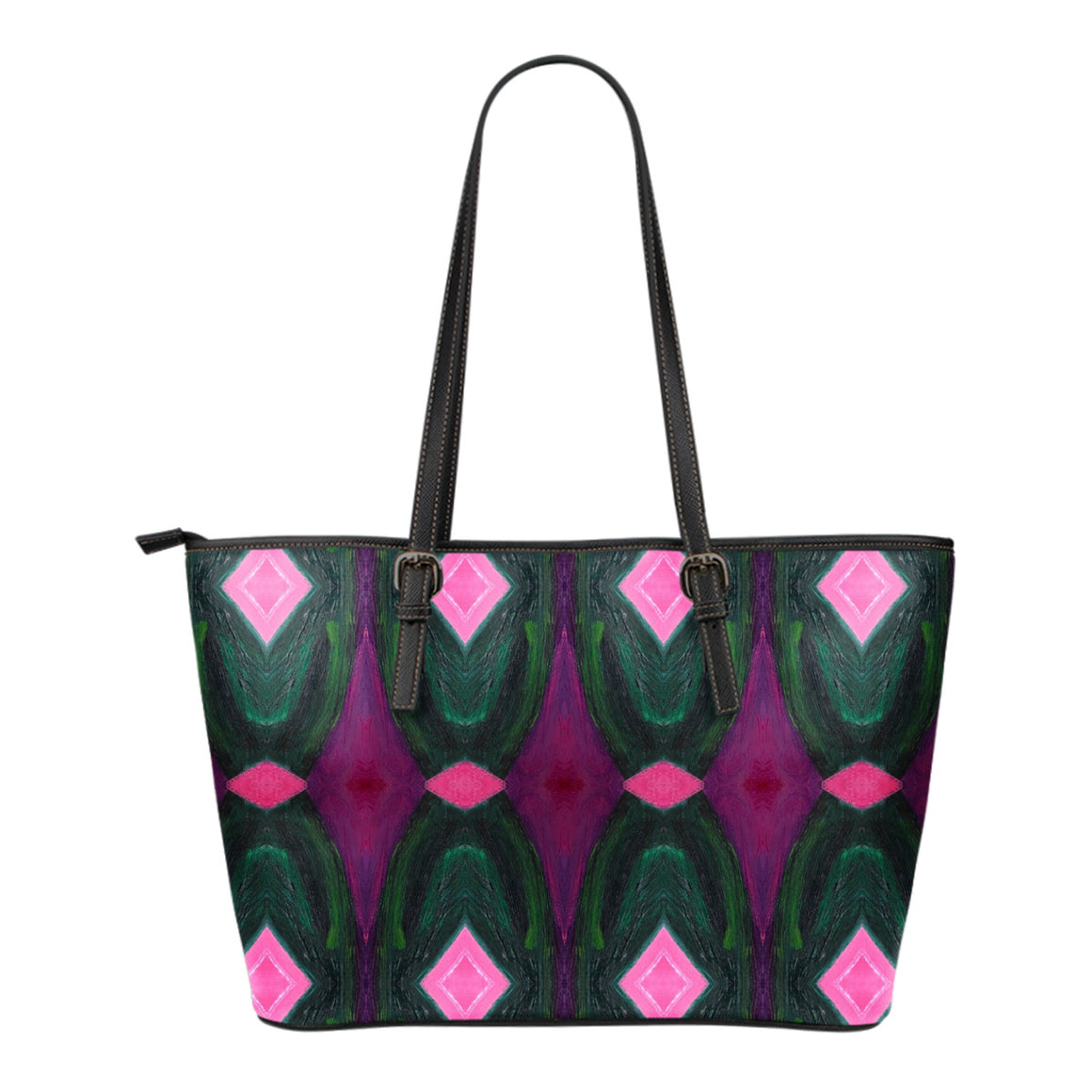 Plum Bago Small Leather Tote