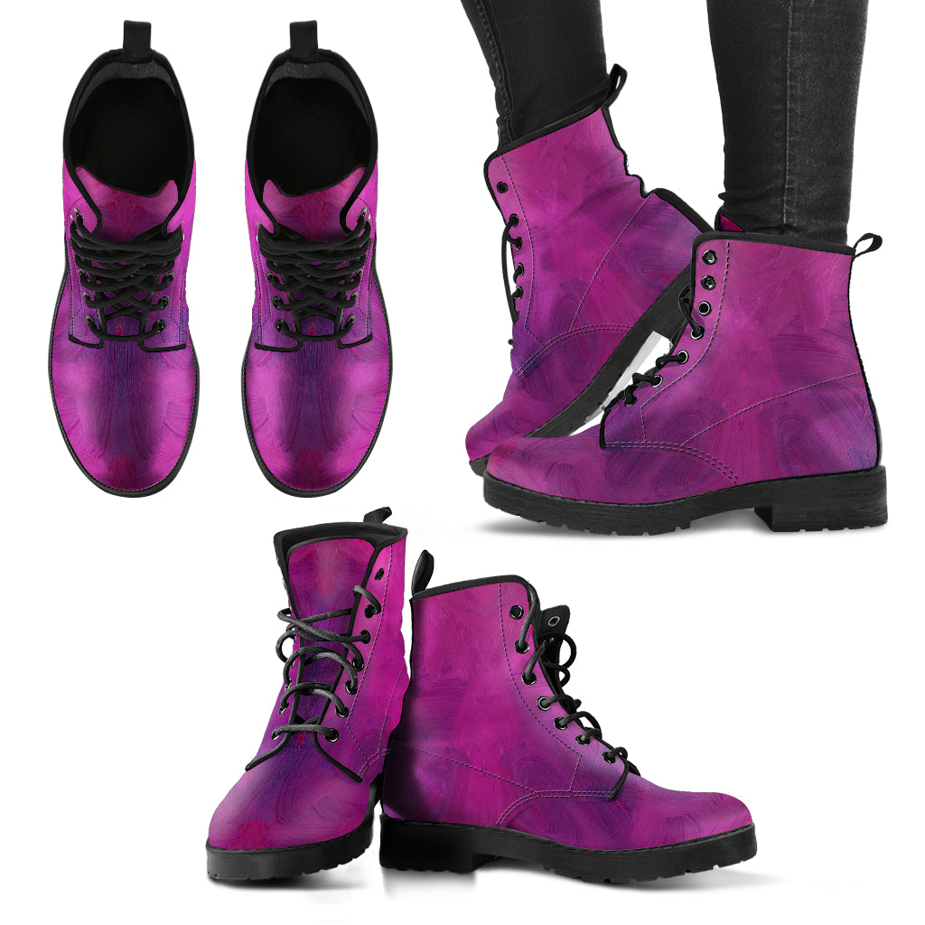 Plum Vegan Leather Boots