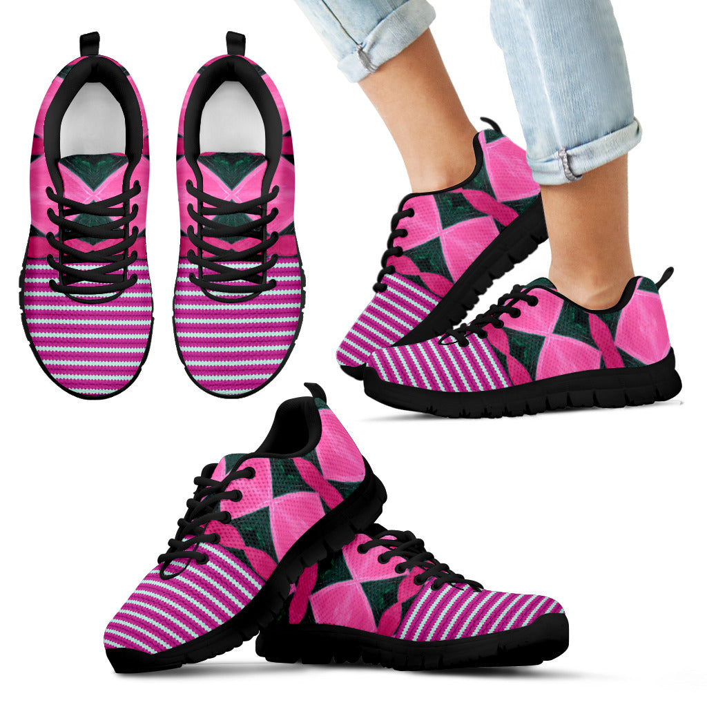 Harlequin Stripe Kid's Sneakers