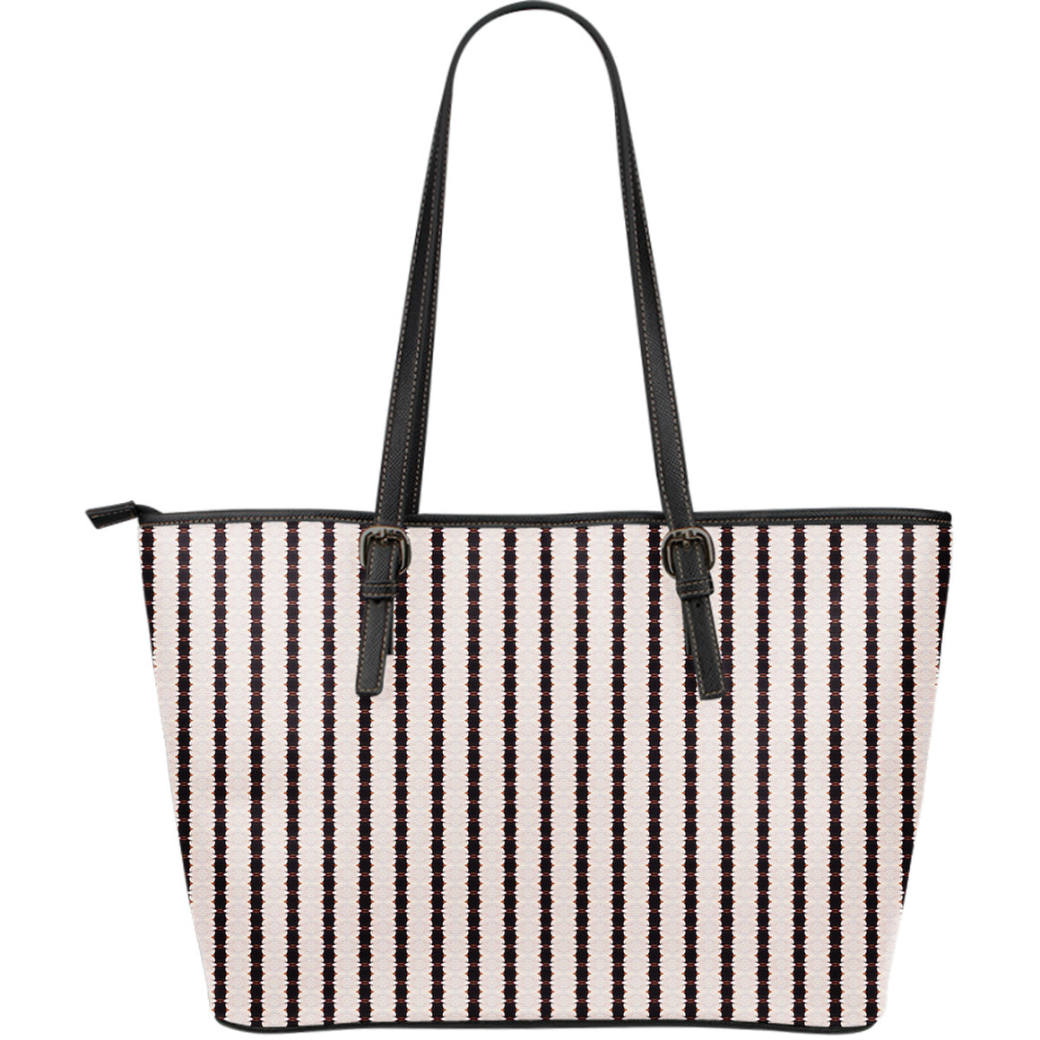 Black and White Stripes Leather Tote | Aqua Burns