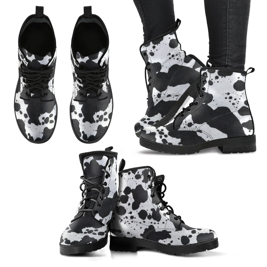 Dalmatian Vegan Leather Boots
