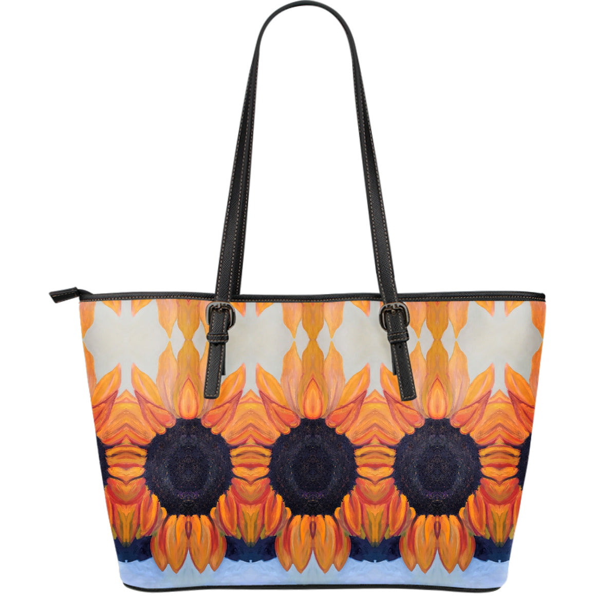 Sunflower Large Leather Tote Bag