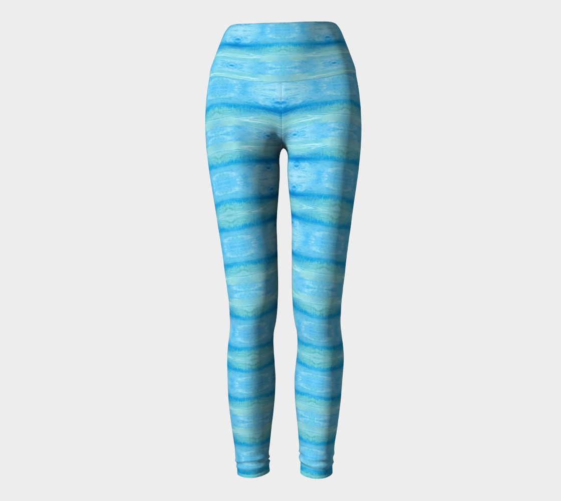 Aqua Blue Pregnancy Yoga Leggings