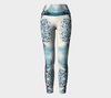 White and Blue Fluke Yoga Leggings