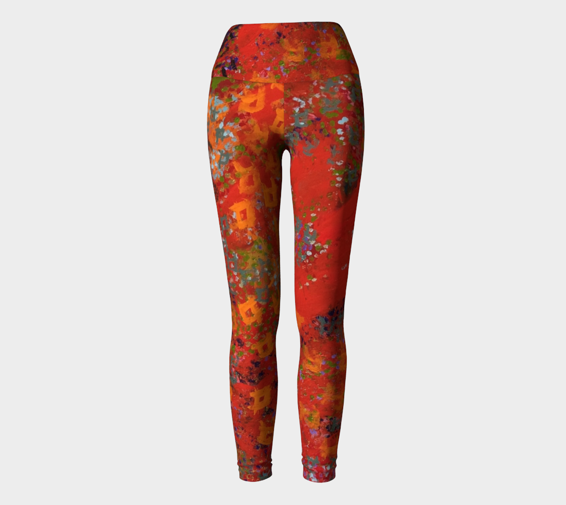 Red Desert Yoga Leggings