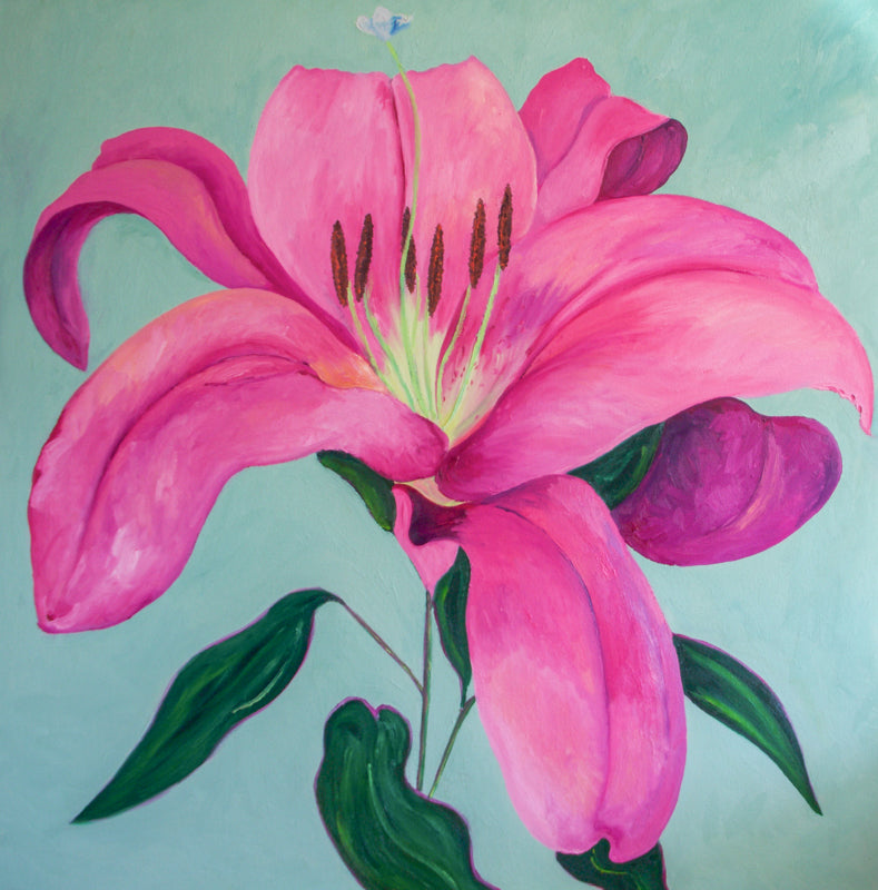 Lilium Oil Painting 2018 by Stephanie Burns