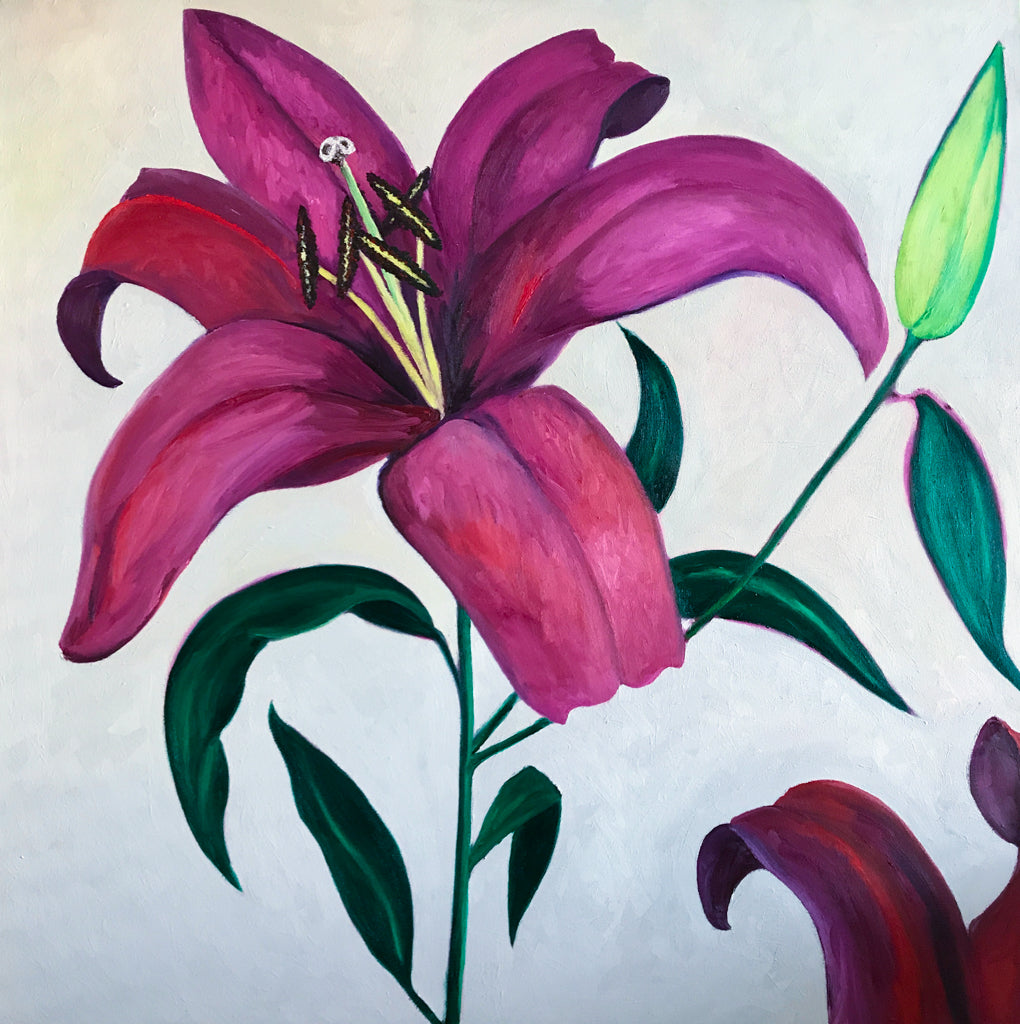 Lilies Oil Painting 2018 by Stephanie Burns