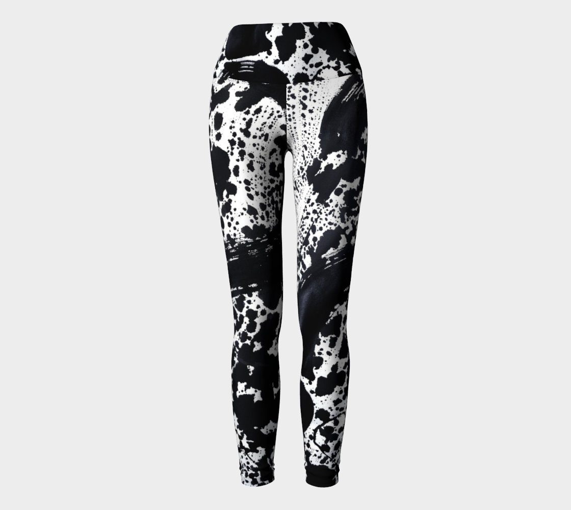 Dalmatian Black Yoga Leggings