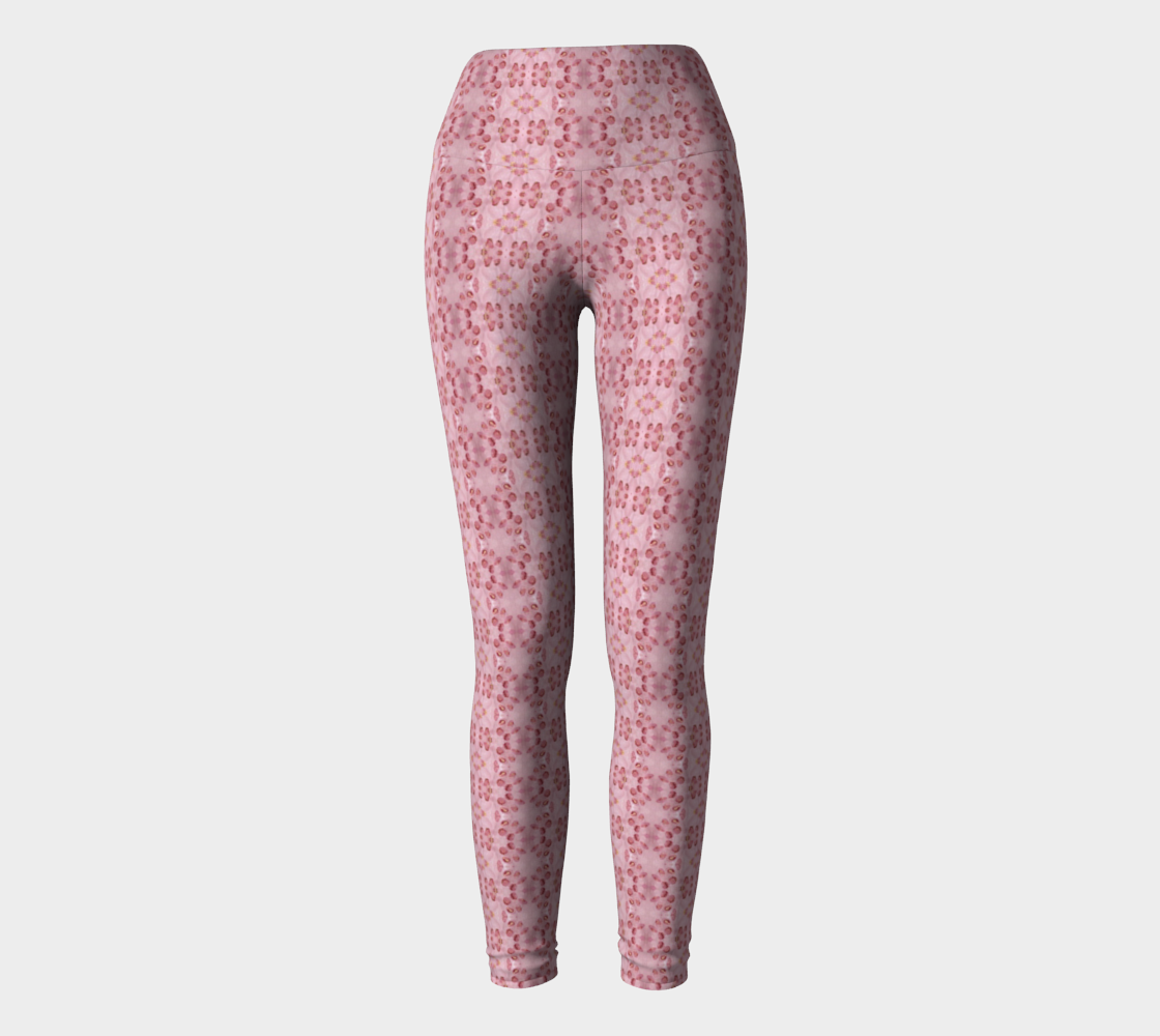 Pink Animal Print Pregnancy Yoga Leggings