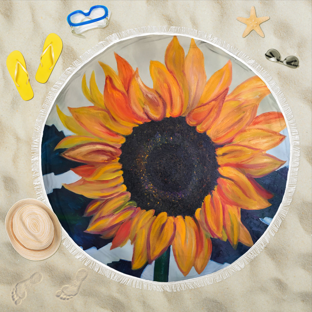 Sunflower Beach Blanket