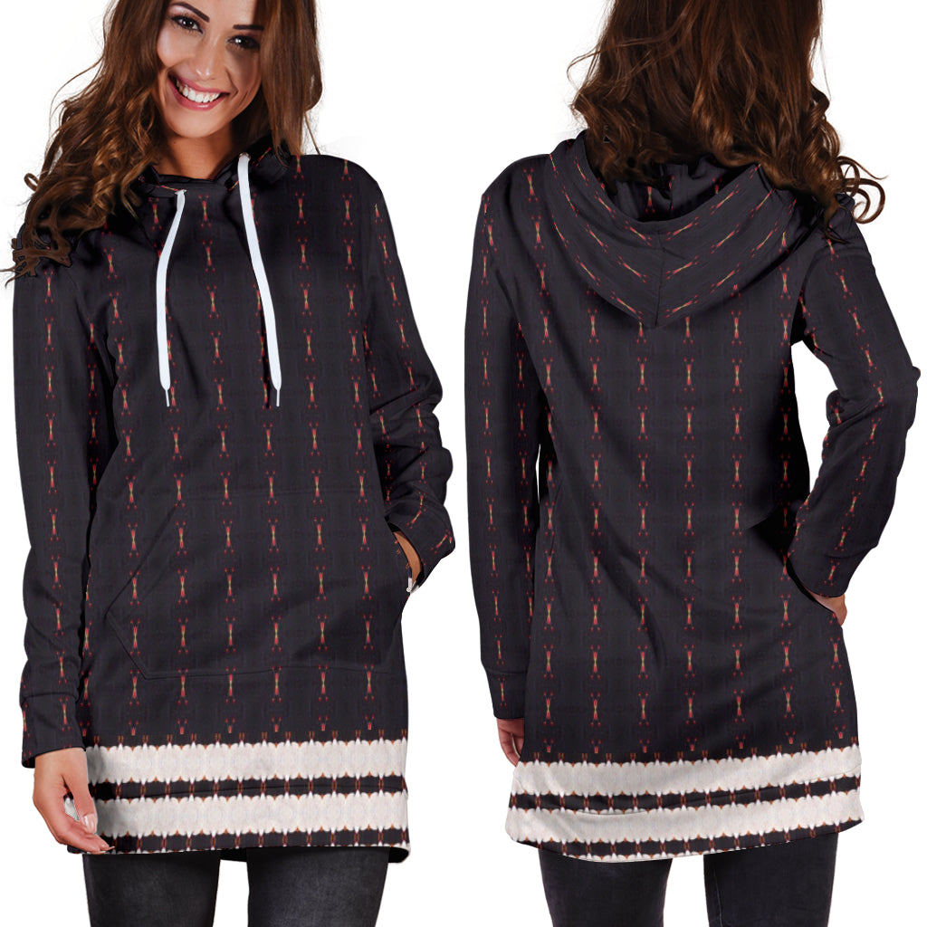 Red Sun Darkness Hoodie Dress