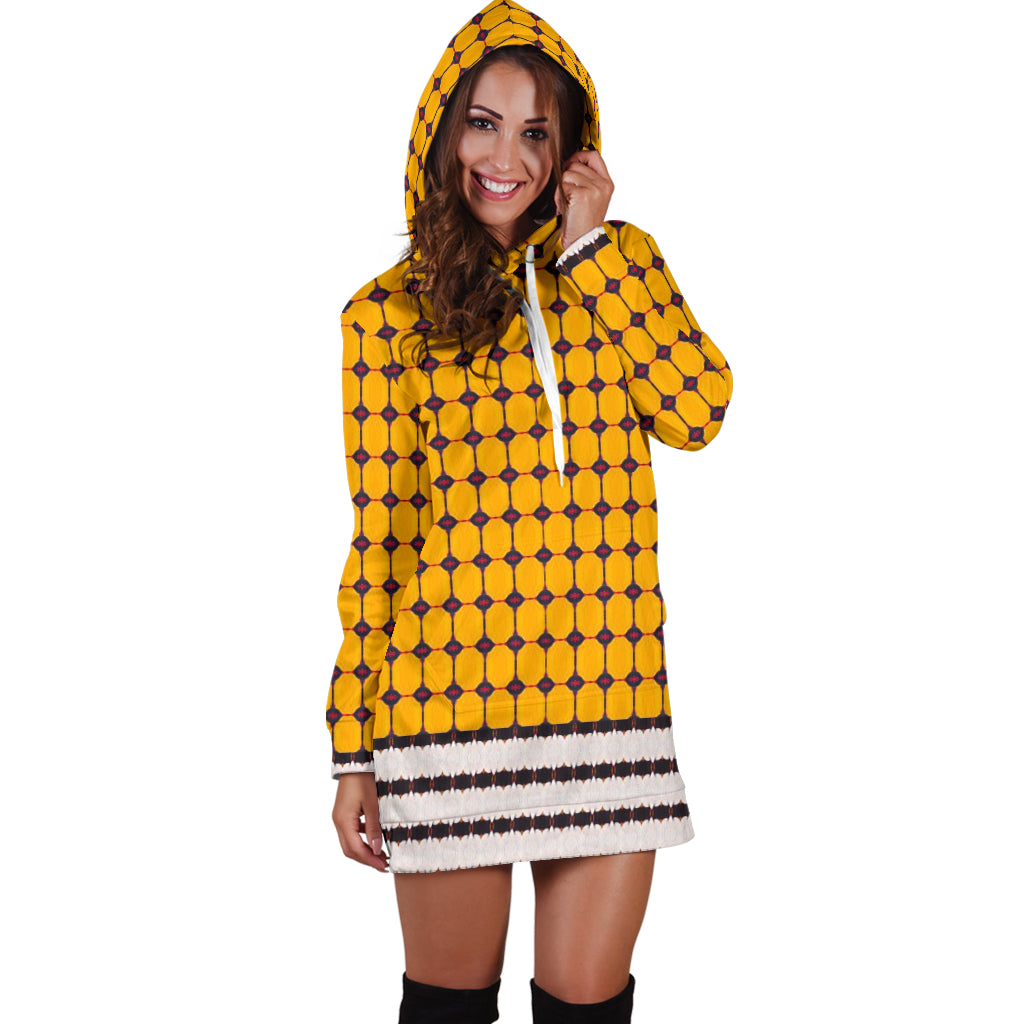 Yellow Liquorice Hoodie Dress
