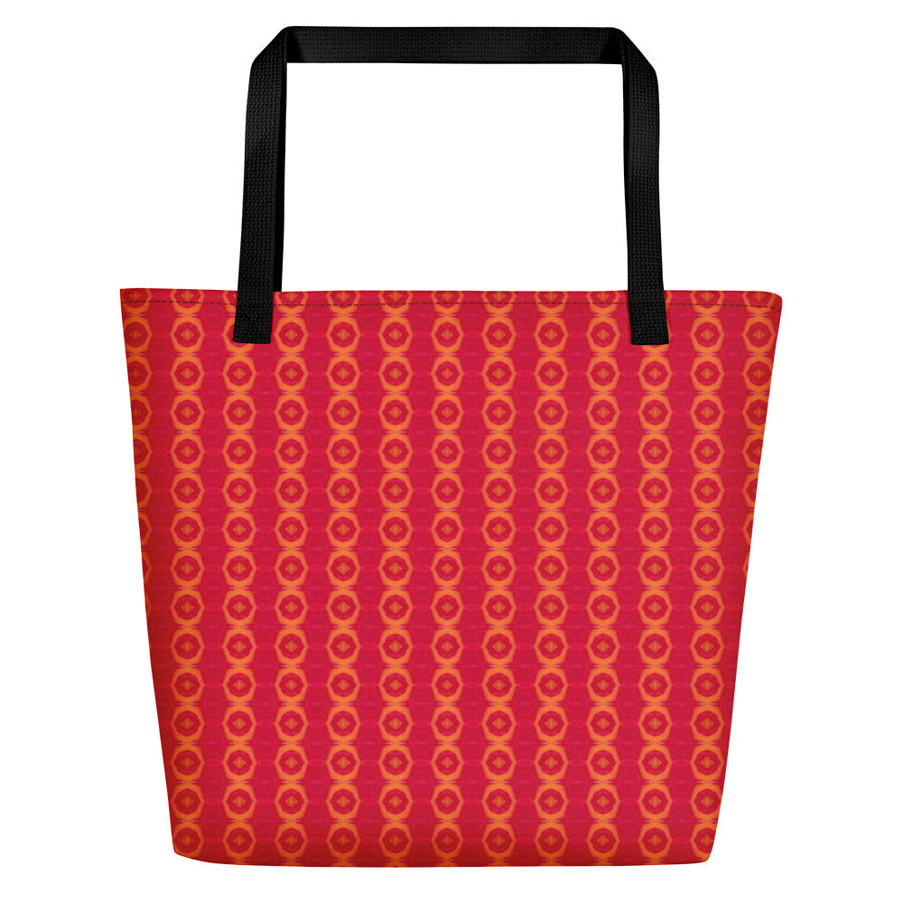 Red Liquorice Beach Bag | Aqua Burns