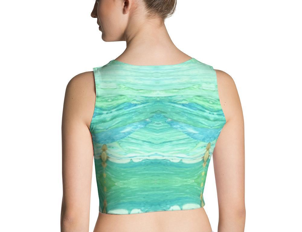 A Sea Green Crop Top
