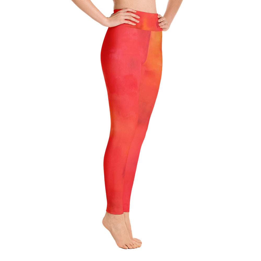 Red Love Yoga Leggings