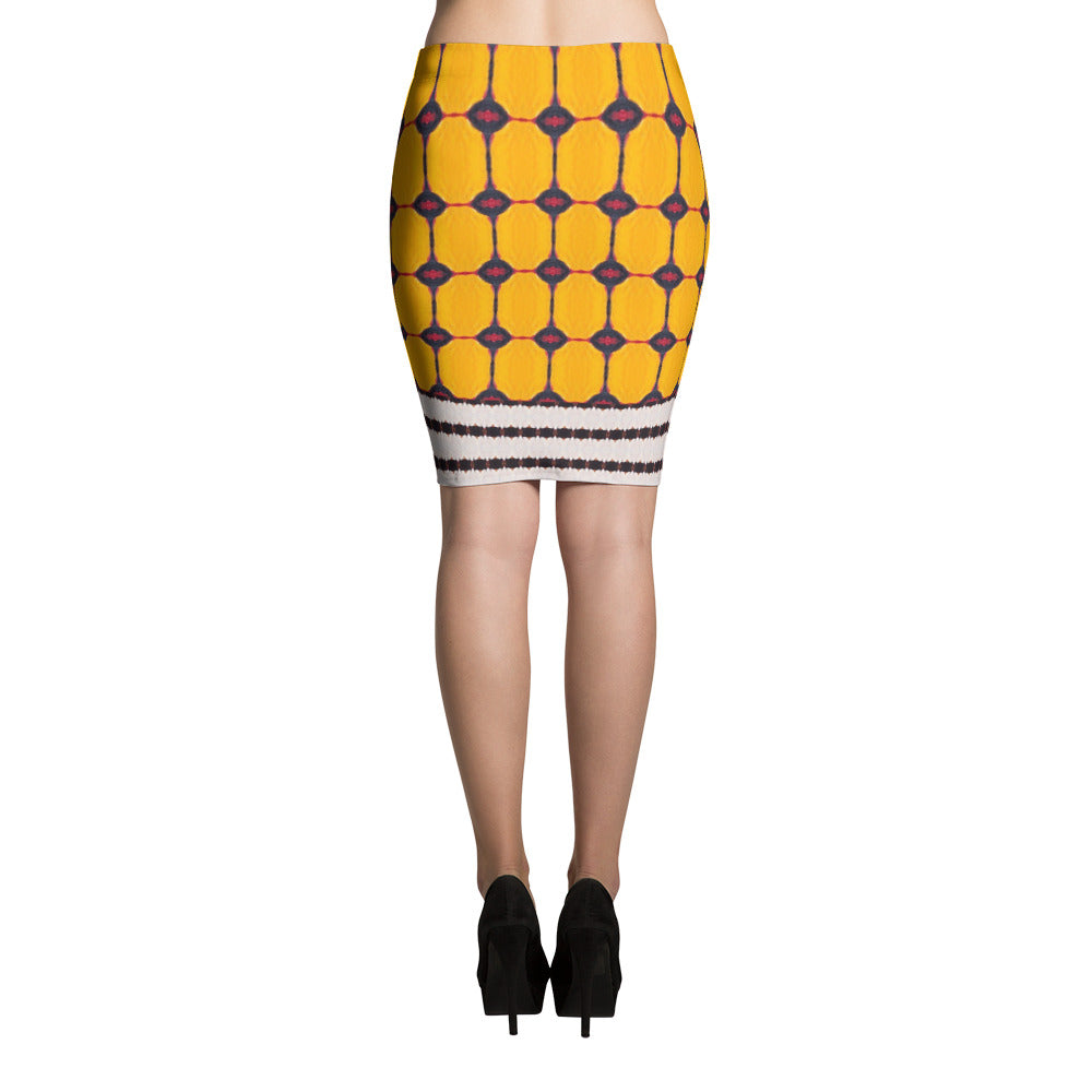 Yellow Liquorice Pencil Skirt