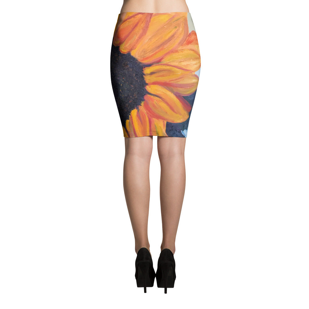 Sunflower Pencil Skirt