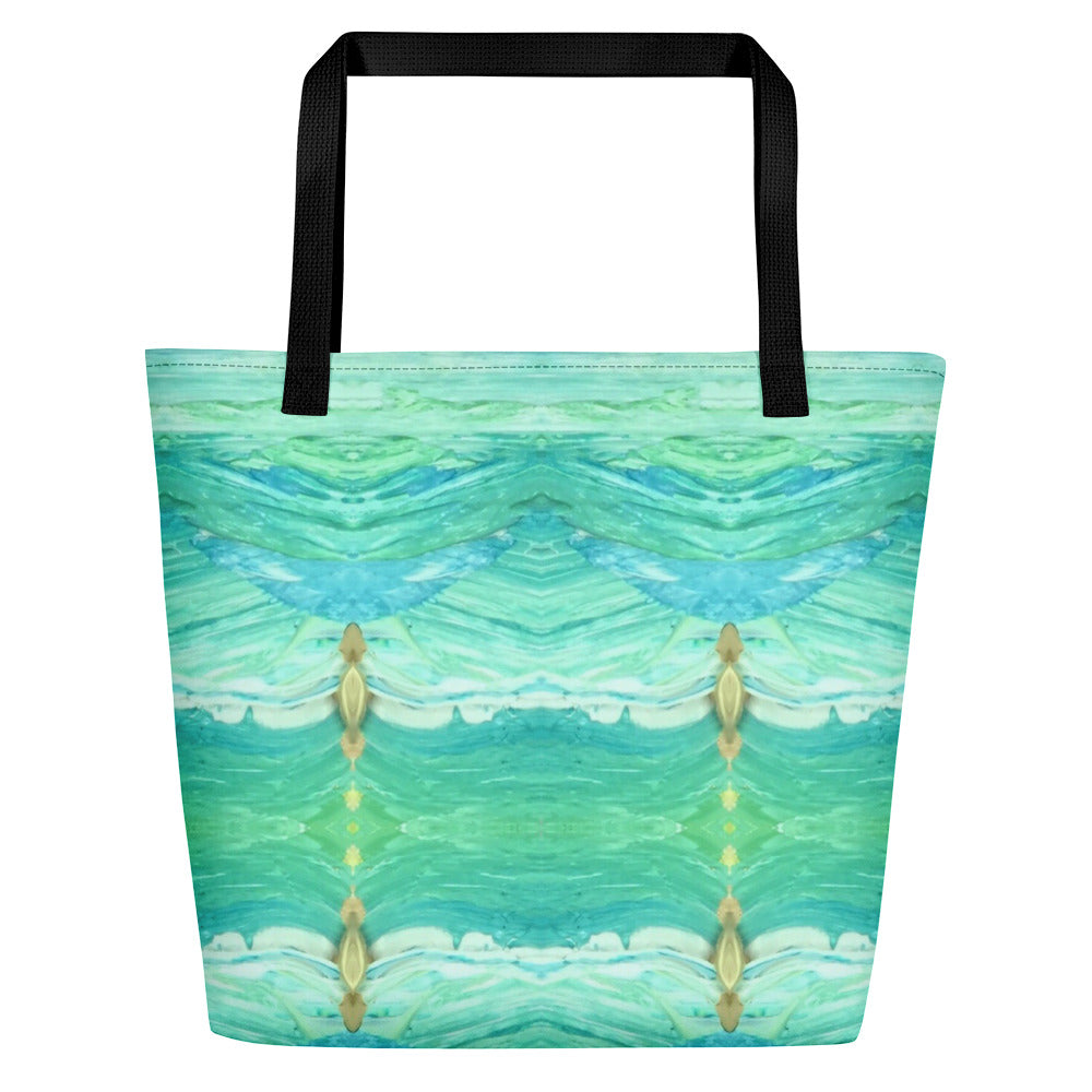 A Sea Green Beach Bag