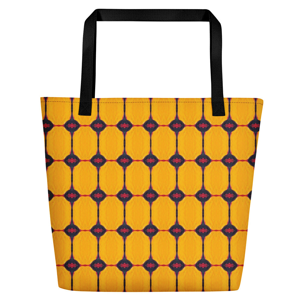 Yellow Liquorice Beach Bag