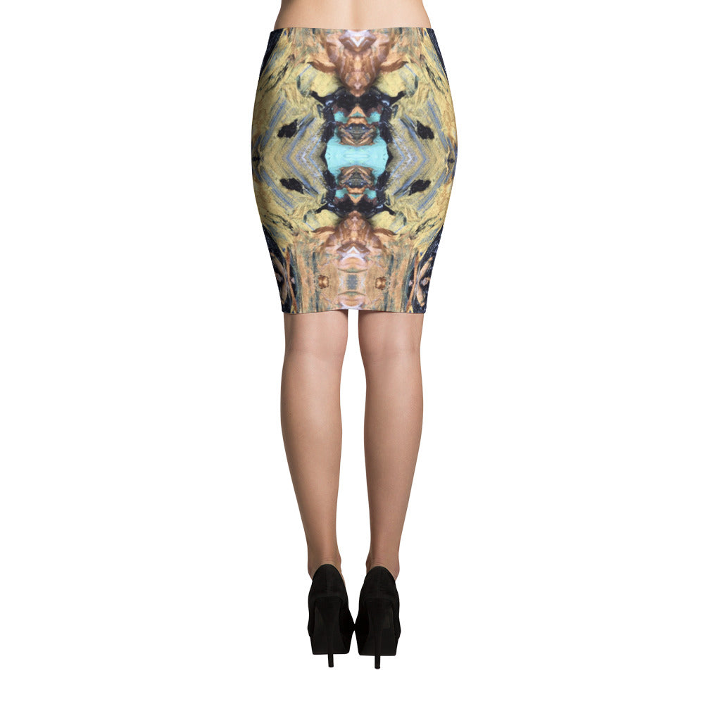 Agate Pencil Skirt