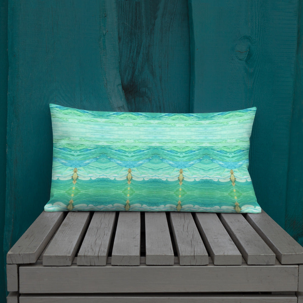 A Sea Green Premium Pillow
