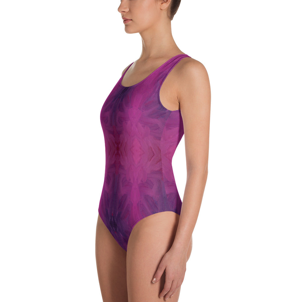 Plum Leotard Swimsuit