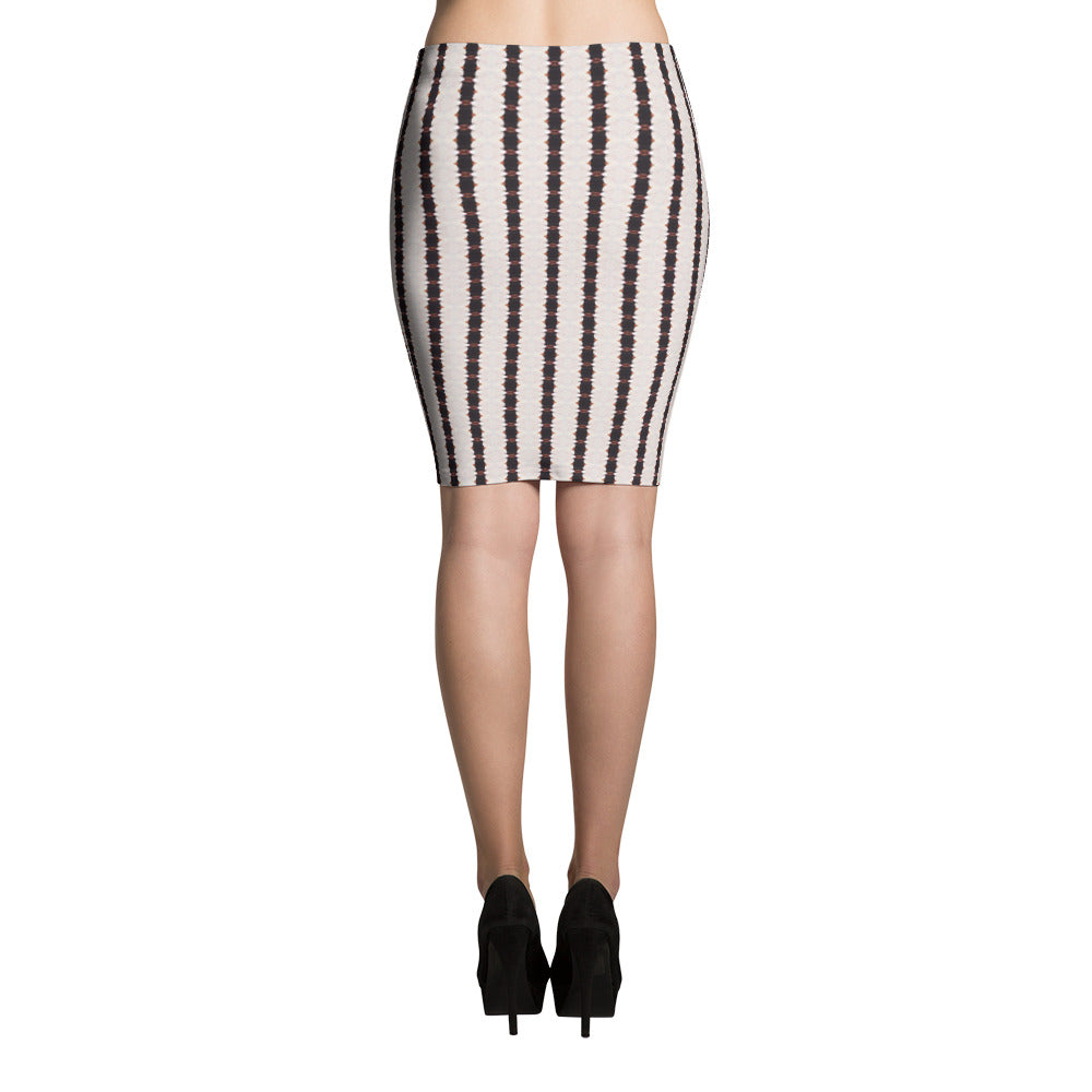 Black and White Stripe Pencil Skirt | Aqua Burns