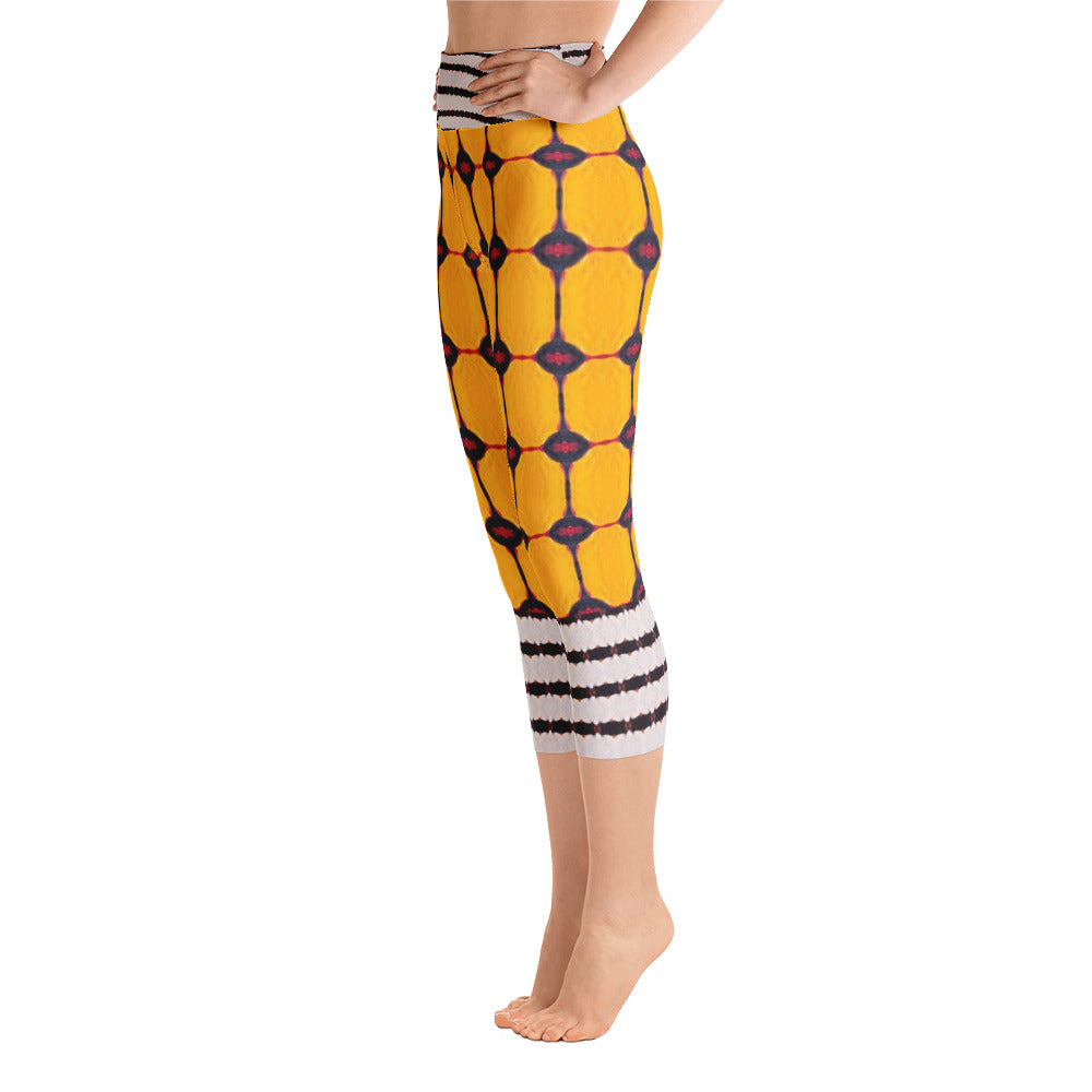 Yellow Liquorice Yoga Capri Leggings