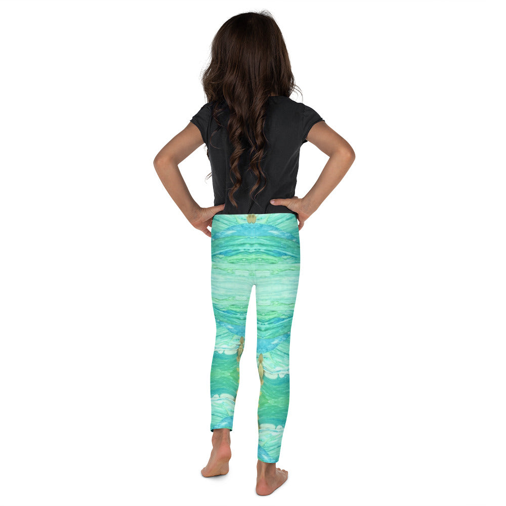 A Sea Green Kid's Leggings