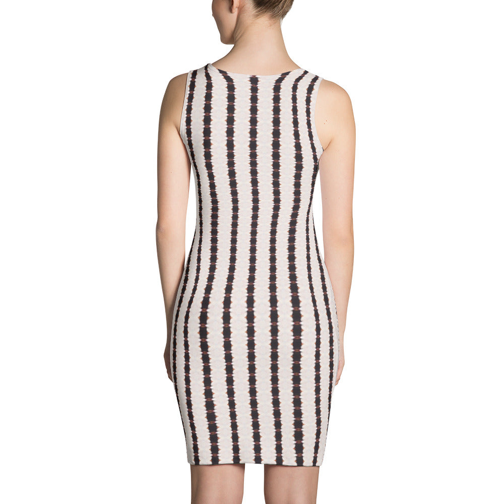 Black and White Stripes Dress | Aqua Burns