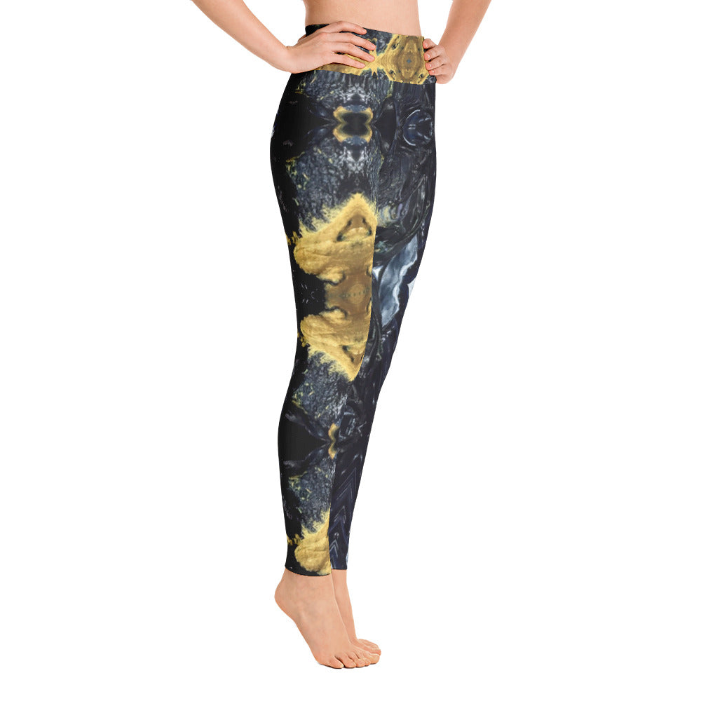 Black and Gold Yoga Leggings