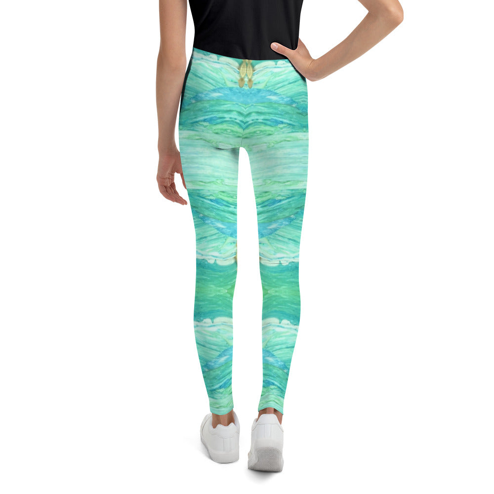 A Sea Green Youth Leggings