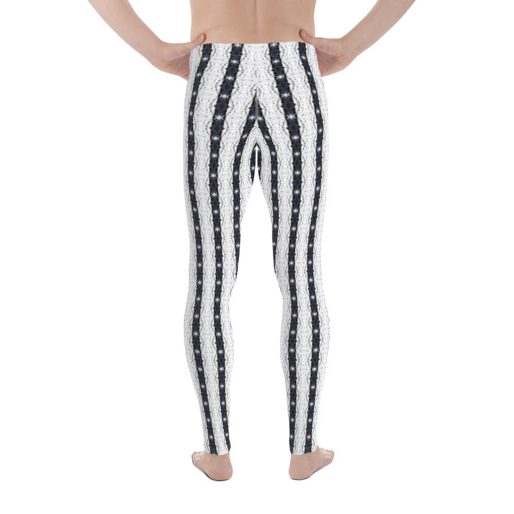Black and White Stars Men's Leggings