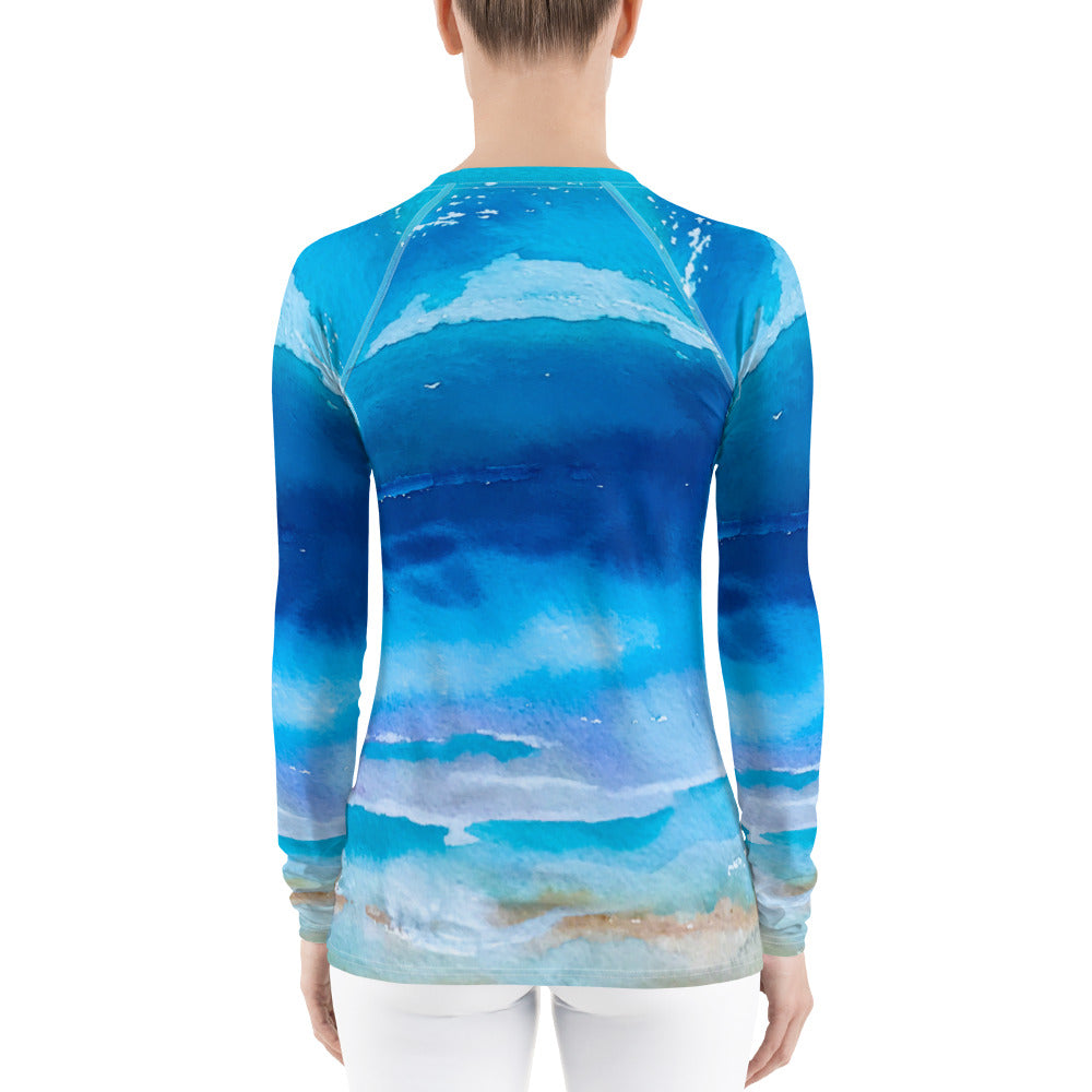 Over the Sea Women's Rash Guard