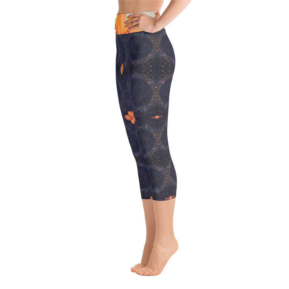 Sunflower Center Yoga Capri Leggings