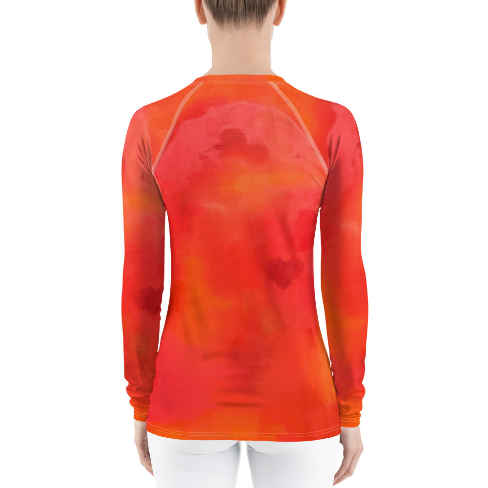 Red Love Women's Rash Guard