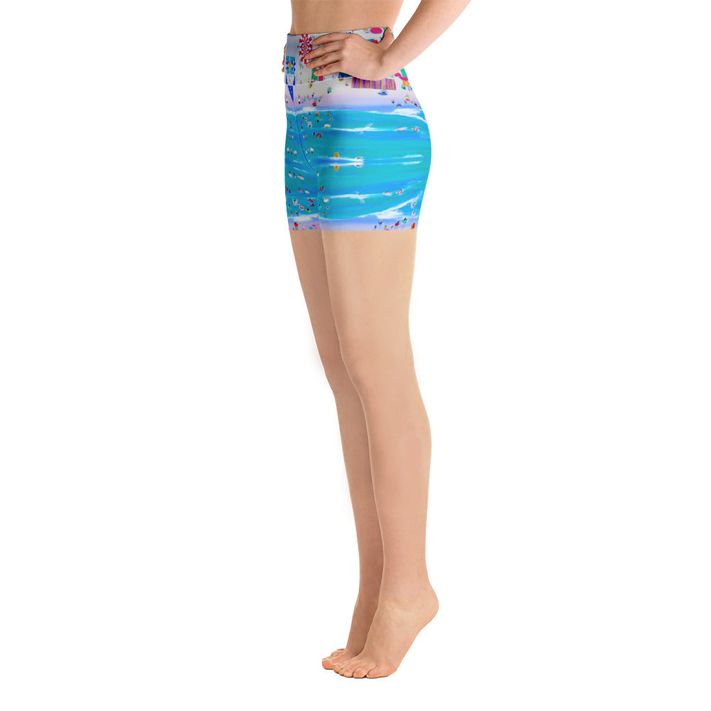 Beach Holiday Yoga Shorts | Aqua Burns