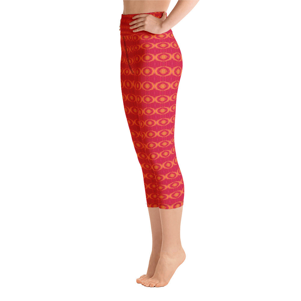 Red Sun Yoga Capri Leggings