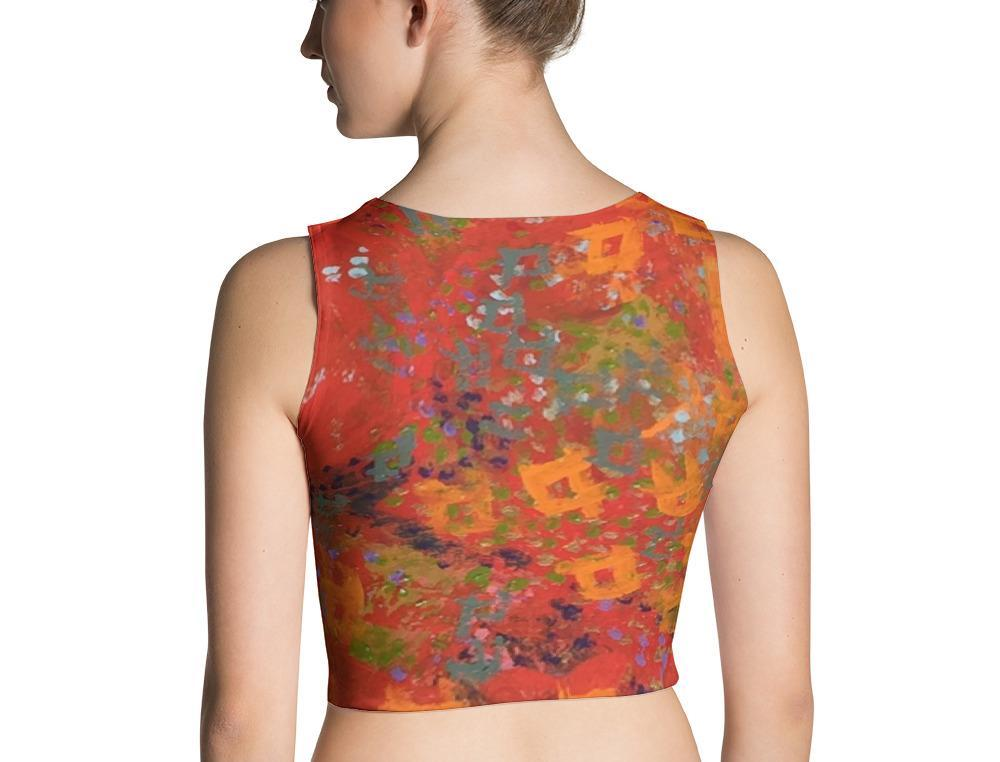 Red Desert Crop Top | Aqua Burns