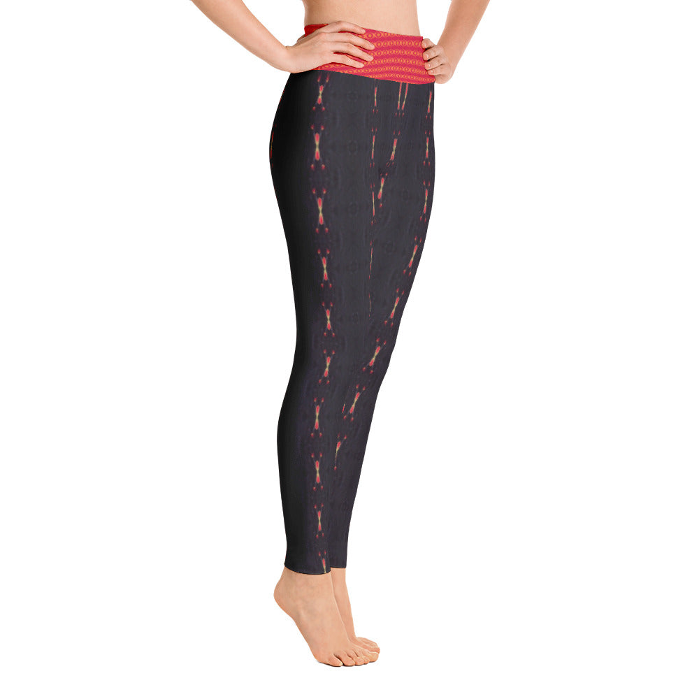 Red Sun Darkness Yoga Leggings