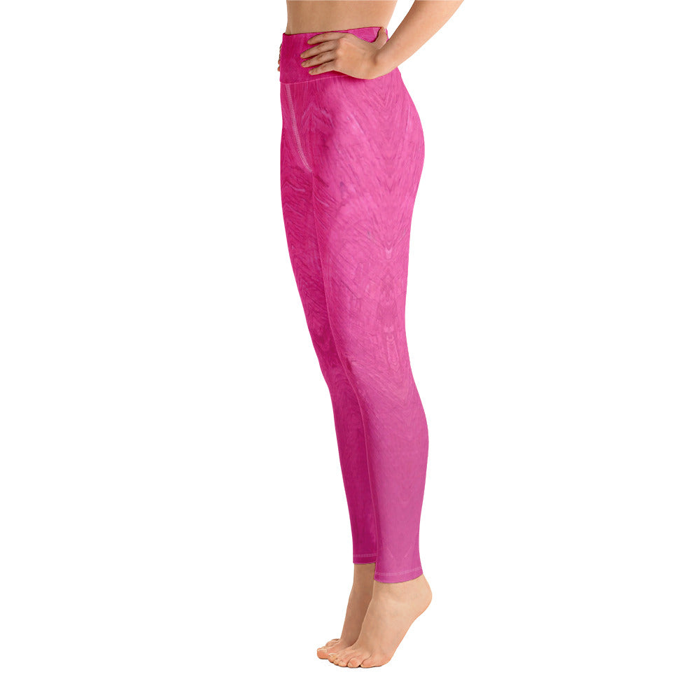 Fuchsia Yoga Leggings