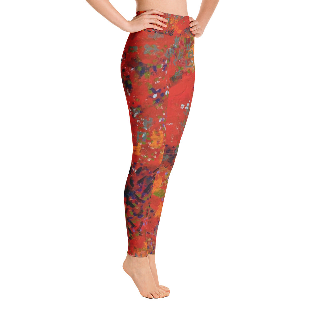 Red Desert Yoga Leggings | Aqua Burns