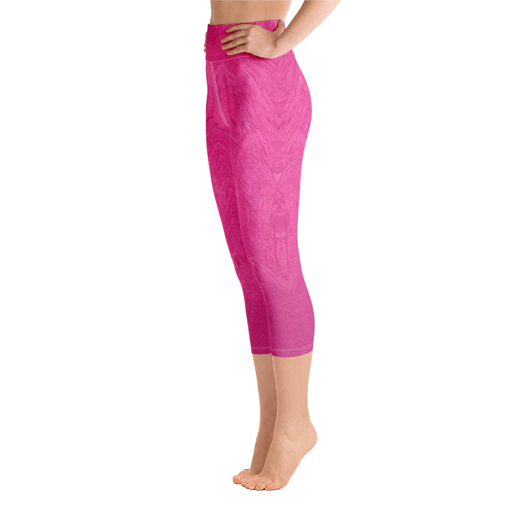 Fuchsia Yoga Capri Leggings