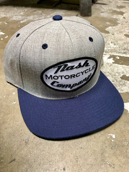 Nash Heather/Navy Premium Classic Snap Back