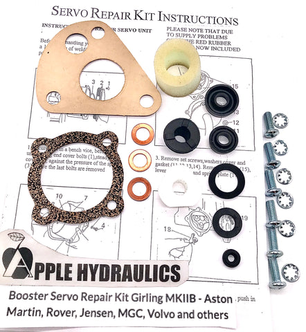 Booster Servo Repair Kit Girling MKIIB - Aston Martin, Rover, Jensen, MGC, Volvo and others