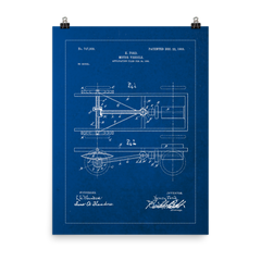 "Model T Ford Blueprint Poster - 18"" x 24"", Apparel, Apple Hydraulics - Apple Hydraulics"