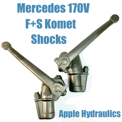 Mercedes 170V Shocks F+S Komet, yours rebuilt $485-$545ea