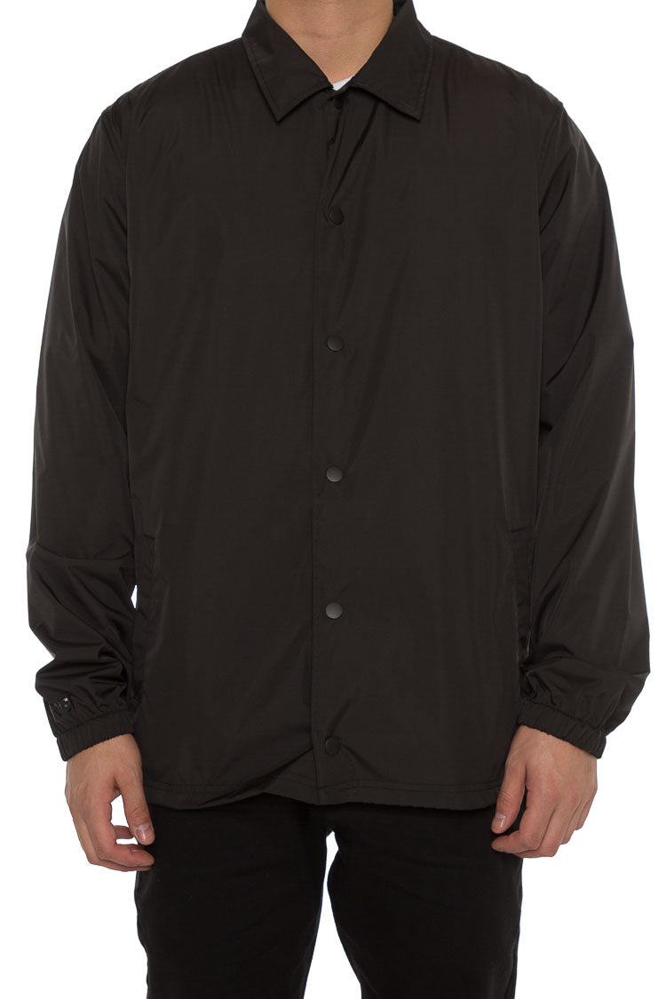 BLANK COACH JACKET - Black