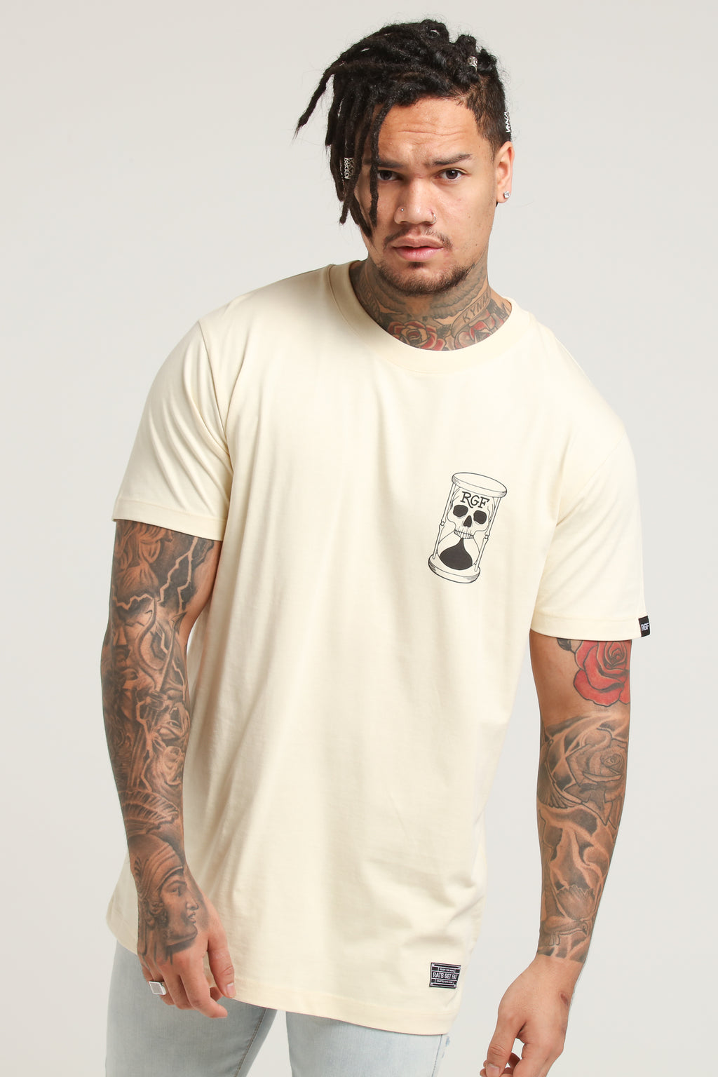 DEAD TIME SS TEE - Cream